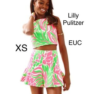 Lilly Pulitzer sneaky tiki neri set xs